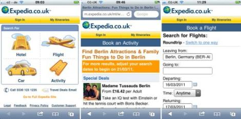 expedia-мобилен сайт